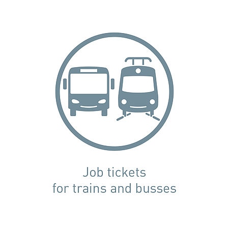 Icon job tickets for trains and busses