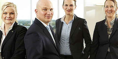 Company founder Dr Erwin Weßling, Julia and Florian Weßling (managing partners), Anna and Diana Weßling (partners)