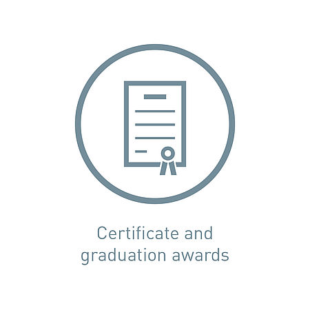 Icon certificate and graduation awards