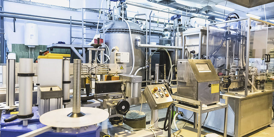 Production facilities for manufacturing cosmetics according to GMP and the EU Cosmetics Directive.