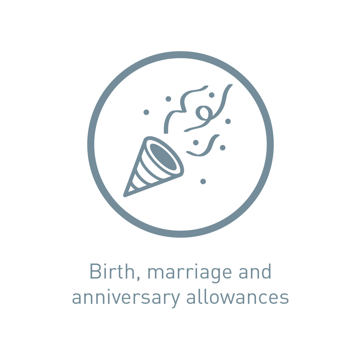 Icon birth, marriage and anniversary allowances